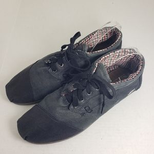 Toms Gray Lace Up Slip-On Men's Sneakers Sz M14